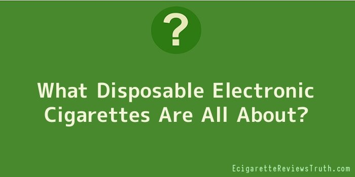 What Disposable Electronic Cigarettes Are All About